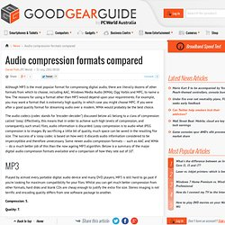 Audio compression formats compared - PC World Business