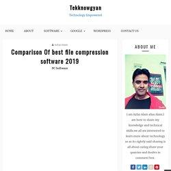 Best File Compression Software 2019