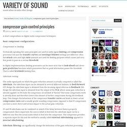 Compressor control principles