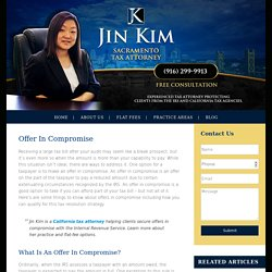 Offer in Compromise Attorney