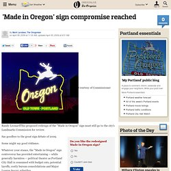 'Made in Oregon' sign compromise reached