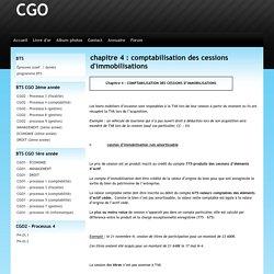 chapitre 4 : comptabilisation des cessions d'immobilisations