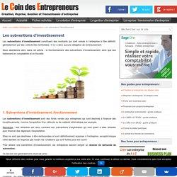 Les subventions d'investissement : fonctionnement et comptabilisation