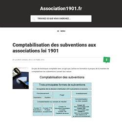 Comptabilisation des subventions aux associations loi 1901