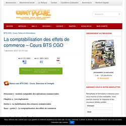 La Comptabilisation Des Effets De Commerce - Cours BTS CGO