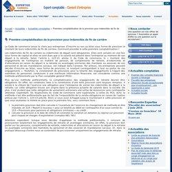 Première comptabilisation de la provision pour indemnités de fin de carrière