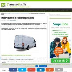 La comptabilisation de l'acquisition d'un véhicule