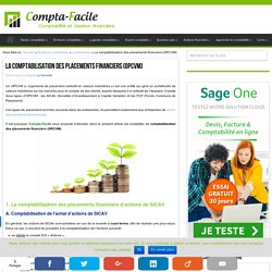 La comptabilisation des placements financiers (OPCVM)