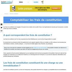 Comptabiliser les frais de constitution
