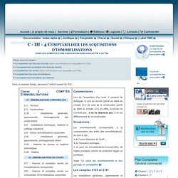 Comptabiliser les acquisitions d'immobilisation