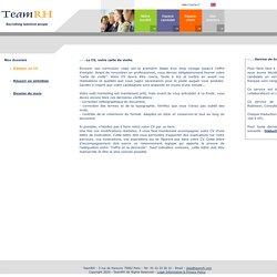 TeamRH - Recrutement Avocat Juriste Comptable Assistante Bilingue - Emploi secteur juridique fiscal comptabilité informatique administratif