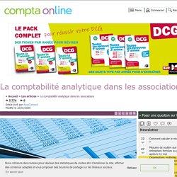 La comptabilité analytique dans les associations