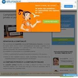 Comptabilité : différence entre comptabilité privée et publique