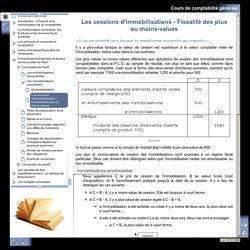 Cours de comptabilité générale - Les cessions d'immobilisations - Fiscalité des plus ou moins-values