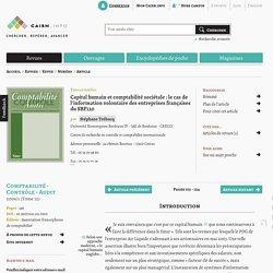 Capital humain et comptabilité sociétale: le cas de l'information volontaire des entreprises françaises du SBF120