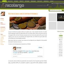Sélection de logiciels libres de comptabilité personnelle