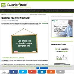 Créances et dettes en comptabilité : présentation et composition