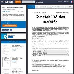 Cours comptabilité des sociétés - Laurence LE GALLO - Sciences humaines et sociales