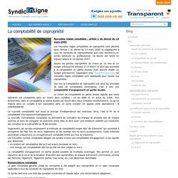 La comptabilité de copropriété - (SyndicEnLigne)