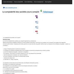 La comptabilité des sociétés cours complet / Télécharger PDF