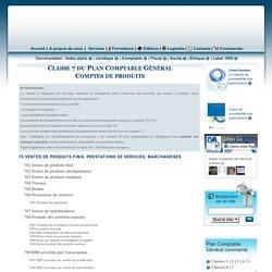 Classe 7 du plan comptable des associations - Comptes de produits
