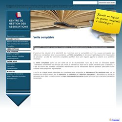 Veille comptable - Centre de gestion des associations