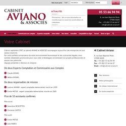 Votre cabinet - Expert comptable à Agen 47 Lot-et-Garonne Nouvelle-Aquitaine -Claude et Hélène Aviano