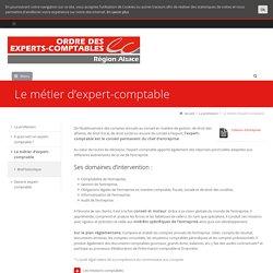 Le métier d'expert-comptable - Conseil régional de l'Ordre des experts-comptables d'Alsace