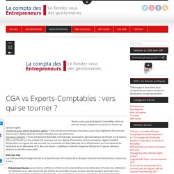 CGA vs Experts-Comptables : vers qui se tourner ?