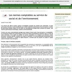 Les normes comptables au service du social et de l'environnement - Les clés du social