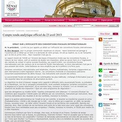 Sénat - Compte rendu analytique officiel du 23 avril 2013