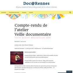 Compte-rendu de l'atelier Veille documentaire