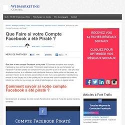 ▶ Mon Compte Facebook a été Piraté ? ☠ Le Guide Complet