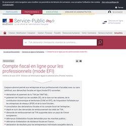 Compte fiscal en ligne pour les professionnels (mode EFI)
