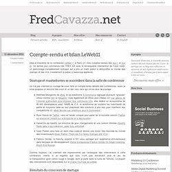 Compte-rendu et bilan LeWeb11
