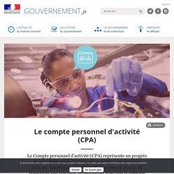 Le compte personnel d'activité (CPA)