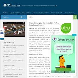 AFPA - COMPTE PERSONNEL de FORMATION, CPF