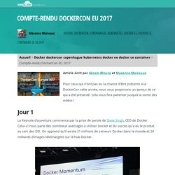 Compte-rendu DockerCon EU 2017