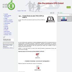 Compte Rendu du salon TICE et EPS du 04/06/15