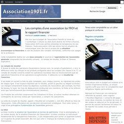 Les comptes d'une association loi 1901 et le rapport financier