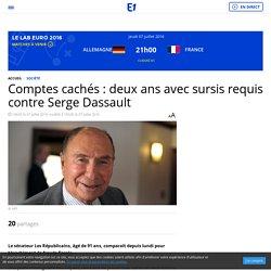 Comptes cachés : deux ans avec sursis requis contre Serge Dassault