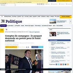 Comptes de campagne: le parquet demande un procès pour le Front national