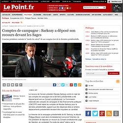 Comptes de campagne : Sarkozy a déposé son recours devant les Sages