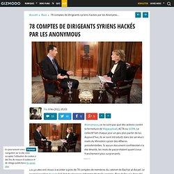 78 comptes de dirigeants syriens hackés par les Anonymous