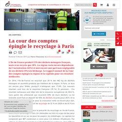La cour des comptes épingle le recyclage à Paris