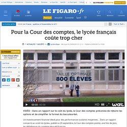 Pour la Cour des comptes, le lycée français coûte trop cher