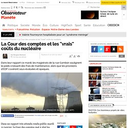 """Récupéré: La Cour des comptes et les """"vrais"""" coûts du nucléaire"""