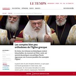 Les comptes bien peu orthodoxes de l'Eglise grecque