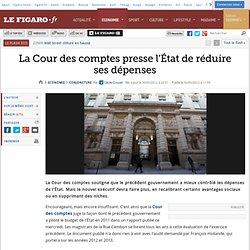 Conjoncture : La Cour des comptes presse l'État de réduire ses dépenses