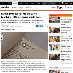 Els comptes del 155 de la Segona República, oblidats en un pis de París